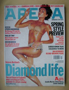 <!--2002-03-->Arena magazine - March 2002 - Victoria Beckham cover