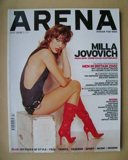 <!--2002-07-->Arena magazine - July 2002 - Milla Jovovich cover