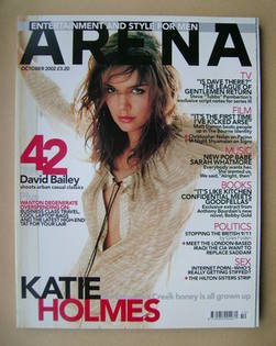 <!--2002-10-->Arena magazine - October 2002 - Katie Holmes cover