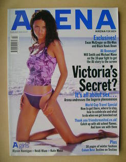 <!--2002-02-->Arena magazine - February 2002 - Adriana Lima cover