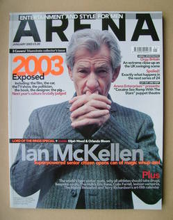 <!--2003-01-->Arena magazine - January 2003 - Ian McKellen cover