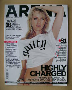 <!--2003-04-->Arena magazine - April 2003 - Naomi Watts cover