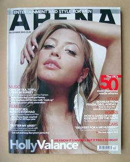 <!--2002-12-->Arena magazine - December 2002 - Holly Valance cover