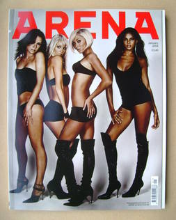 <!--2004-01-->Arena magazine - January 2004 - Pop Girls cover