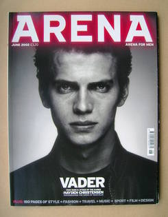 <!--2002-06-->Arena magazine - June 2002 - Hayden Christensen cover