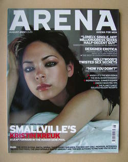 <!--2002-08-->Arena magazine - August 2002 - Kristin Kreuk cover