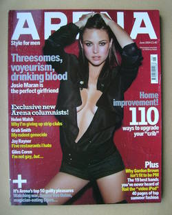 <!--2004-06-->Arena magazine - June 2004 - Josie Maran cover