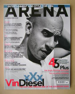 <!--2002-11-->Arena magazine - November 2002 - Vin Diesel cover
