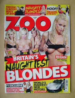 <!--2010-03-12-->Zoo magazine - Britain's Naughtiest Blondes cover (12-18 M