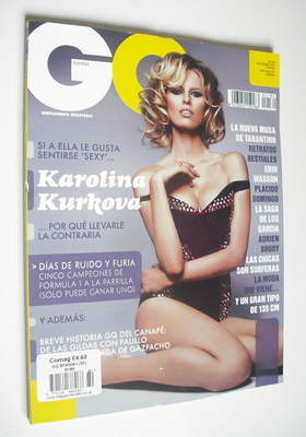 <!--2012-09-->Spanish GQ magazine - September 2012 - Karolina Kurkova cover