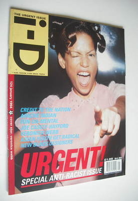 <!--1994-01-->i-D magazine - Veronica Webb cover (January 1994 - No 124)