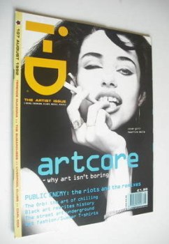 i-D magazine - Beatrice Dalle cover (August 1992 - No 107)