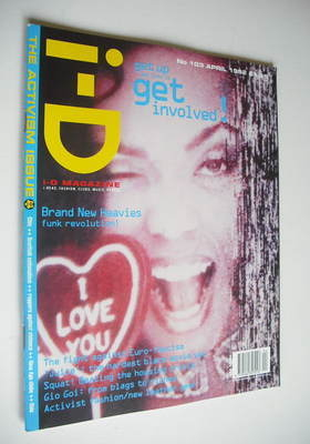 <!--1992-04-->i-D magazine - N'Dea Davenport cover (April 1992 - No 103)