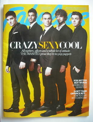 <!--2012-11-04-->Fabulous magazine - The Wanted cover (4 November 2012 - Co