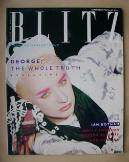<!--1986-09-->Blitz magazine - September 1986 - Boy George cover