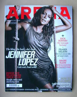 <!--2007-11-->Arena magazine - November 2007 - Jennifer Lopez cover