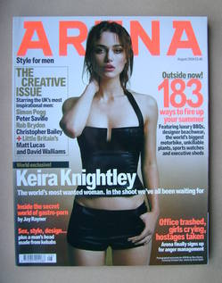 <!--2004-08-->Arena magazine - August 2004 - Keira Knightley cover