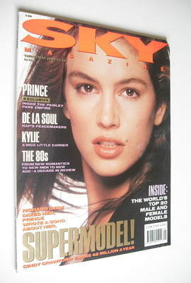<!--1989-12-->Sky magazine - Cindy Crawford cover (Christmas 1989)