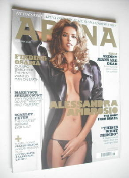 Arena magazine - June 2008 - Alessandro Ambrosio cover