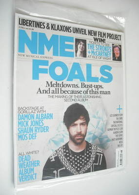 <!--2010-05-08-->NME magazine - Foals cover (8 May 2010)