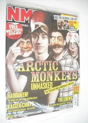 <!--2007-04-28-->NME magazine - Arctic Monkeys cover (28 April 2007)