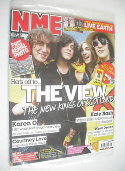 NME magazine - The View cover (14 July 2007)