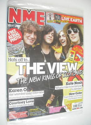 <!--2007-07-14-->NME magazine - The View cover (14 July 2007)
