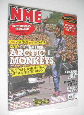 <!--2007-08-04-->NME magazine - Arctic Monkeys cover (4 August 2007)