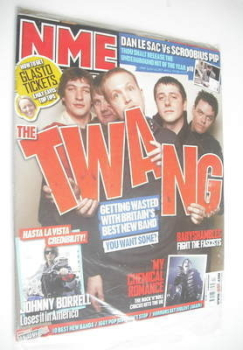 NME magazine - The Twang cover (31 March 2007)