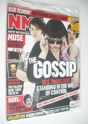 <!--2007-03-03-->NME magazine - The Gossip cover (3 March 2007)