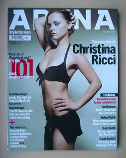 <!--2004-07-->Arena magazine - July 2004 - Christina Ricci cover
