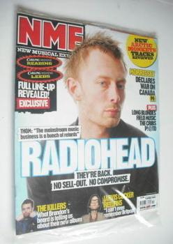 NME magazine - Radiohead cover (8 April 2006)