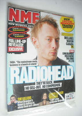 <!--2006-04-08-->NME magazine - Radiohead cover (8 April 2006)