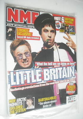 <!--2005-11-05-->NME magazine - Matt Lucas and David Walliams cover (5 Nove