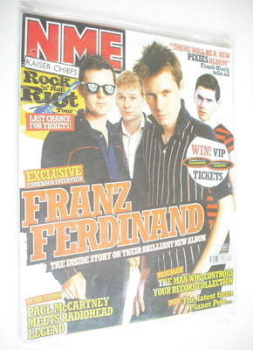 NME magazine - Franz Ferdinand cover (30 July 2005)