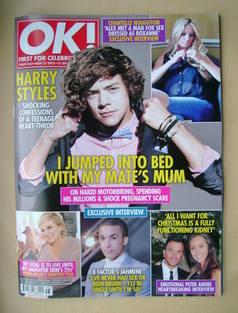 <!--2012-11-13-->OK! magazine - Harry Styles cover (13 November 2012 - Issu