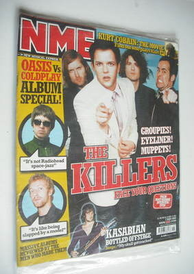 <!--2005-05-07-->NME magazine - The Killers cover (7 May 2005)