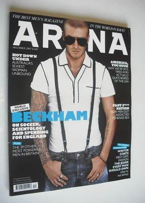 <!--2007-12-->Arena magazine - December 2007 - David Beckham cover