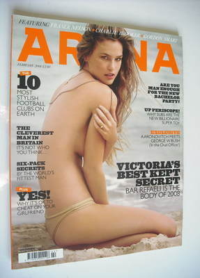 <!--2008-02-->Arena magazine - February 2008 - Bar Refaeli cover