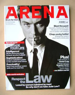 <!--2004-11-->Arena magazine - November 2004 - Jude Law cover
