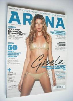 Arena magazine - September 2008 - Gisele Bundchen cover