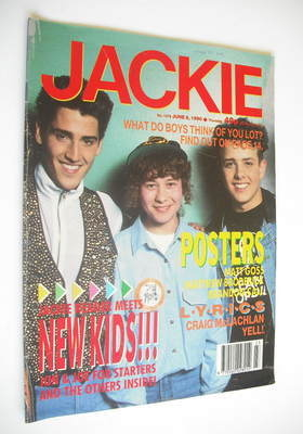 <!--1990-06-09-->Jackie magazine - 9 June 1990 (Issue 1379 - New Kids On Th