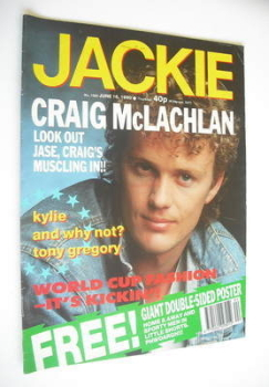 Jackie magazine - 16 June 1990 (Issue 1380 - Craig McLachlan cover)