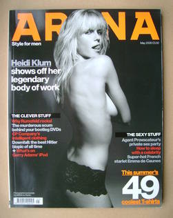 <!--2005-05-->Arena magazine - May 2005 - Heidi Klum cover