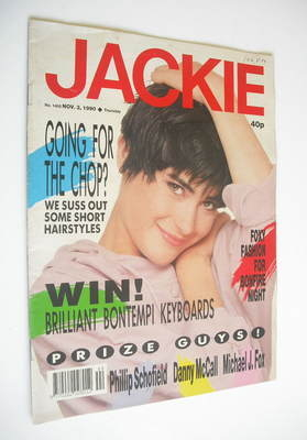<!--1990-11-03-->Jackie magazine - 3 November 1990 (Issue 1400)