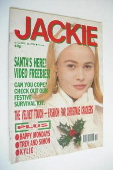 Jackie magazine - 22 December 1990 (Issue 1407)