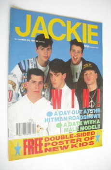 Jackie magazine - 24 March 1990 (Issue 1368 - New Kids On The Block cover)