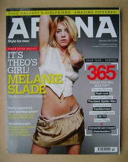 <!--2007-02-->Arena magazine - February 2007 - Melanie Slade cover