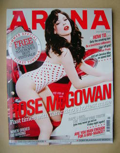<!--2007-07-->Arena magazine - July 2007 - Rose McGowan cover