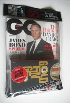 British GQ magazine - November 2012 - Daniel Craig cover (plus paperback)